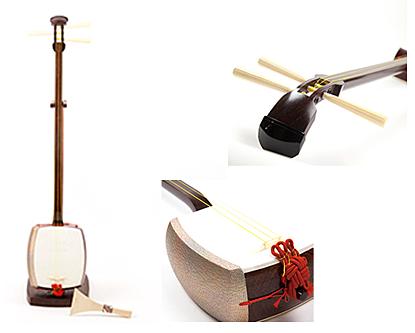 歴史(由来・起源) 近世邦楽に大きな役割を果たした楽器です。 特徴(技術・材料) 紅木・紫壇・花梨を主材料とし、製造行程の全てを行っています。 用途に応じて、いろいろな種類の三味線を製造しています。