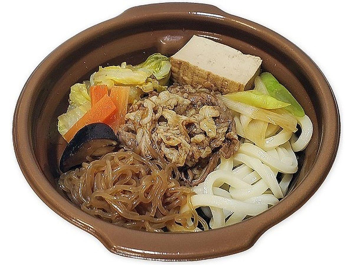 《価格》648円+税 口どけのよいとちぎ和牛を、野菜の甘味が溶け込んだつゆで煮込んだ食べ応えのある商品。
