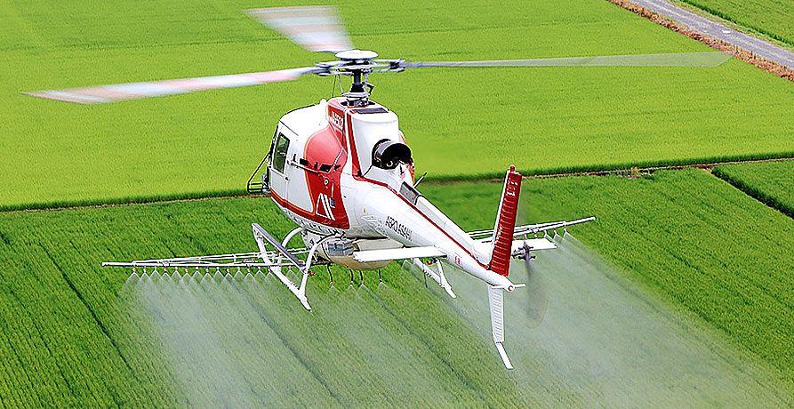 ヘリコプターによる薬剤散布(・∀・)実施の時期がやってまいりました☆