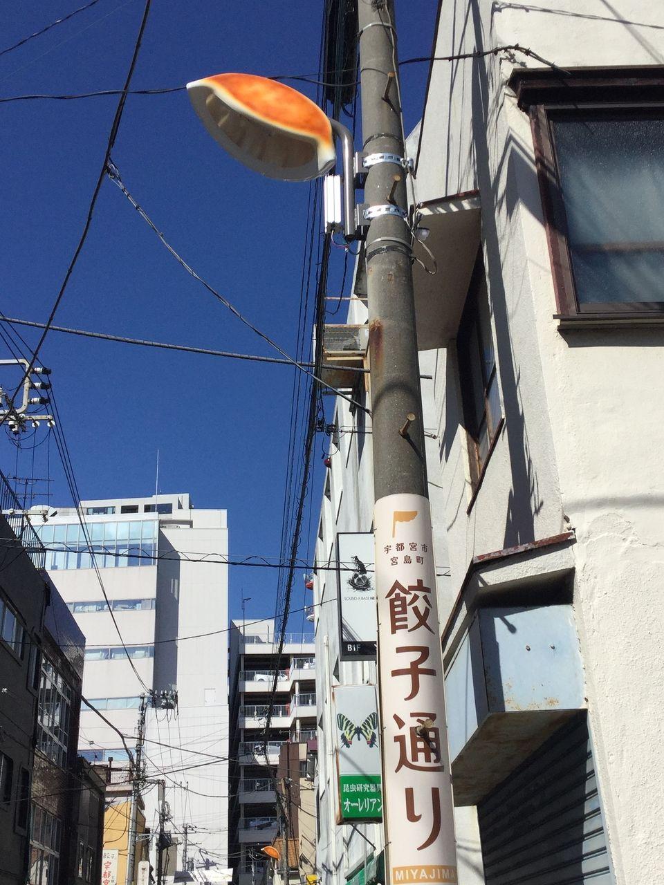 宇都宮市 ギョーザ通り 餃子の街灯