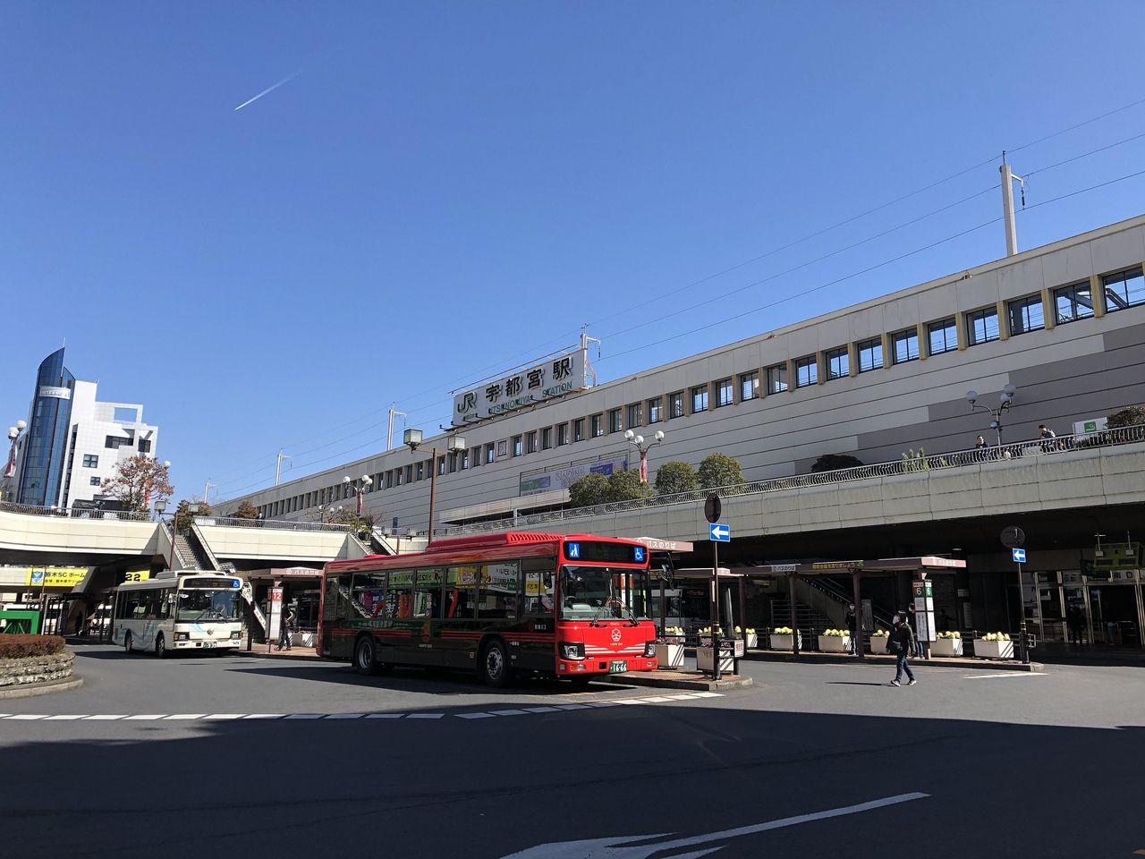 宇都宮駅 西口 関東自動車バス乗り場