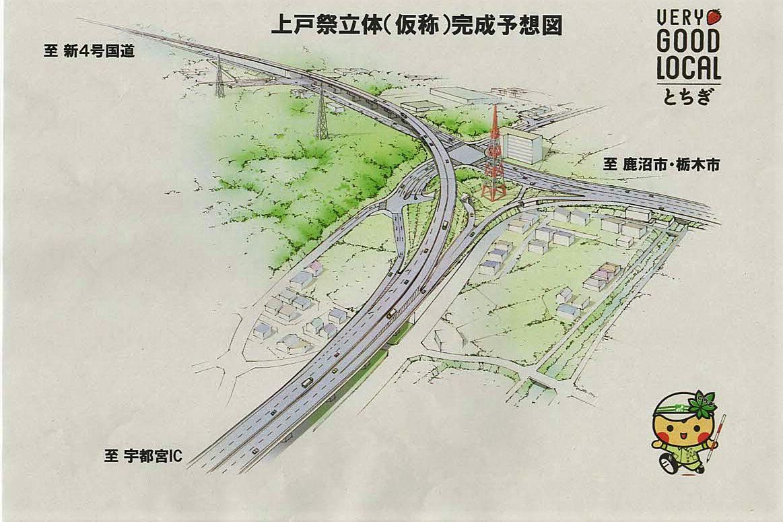 宇都宮環状北道路入り口☆渋滞解消、期待します!